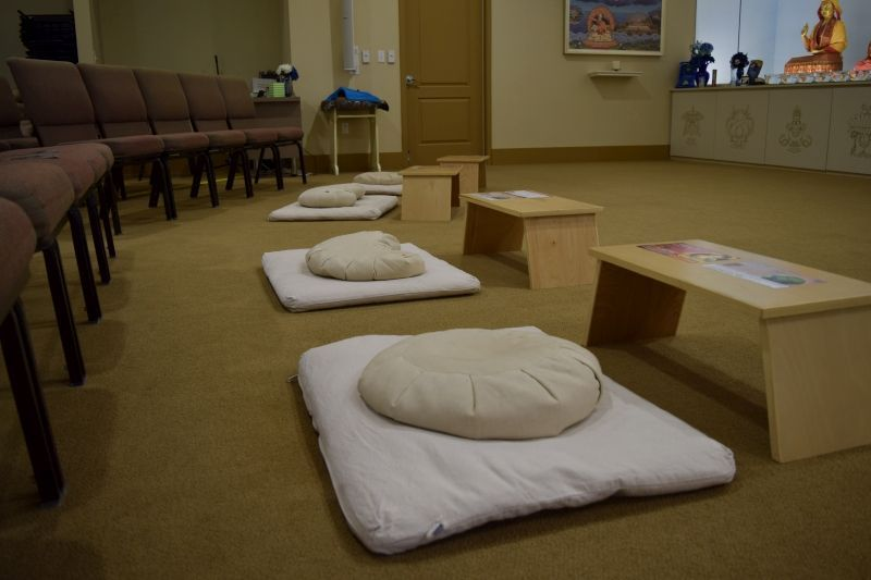 Meditation on cushions or chairs