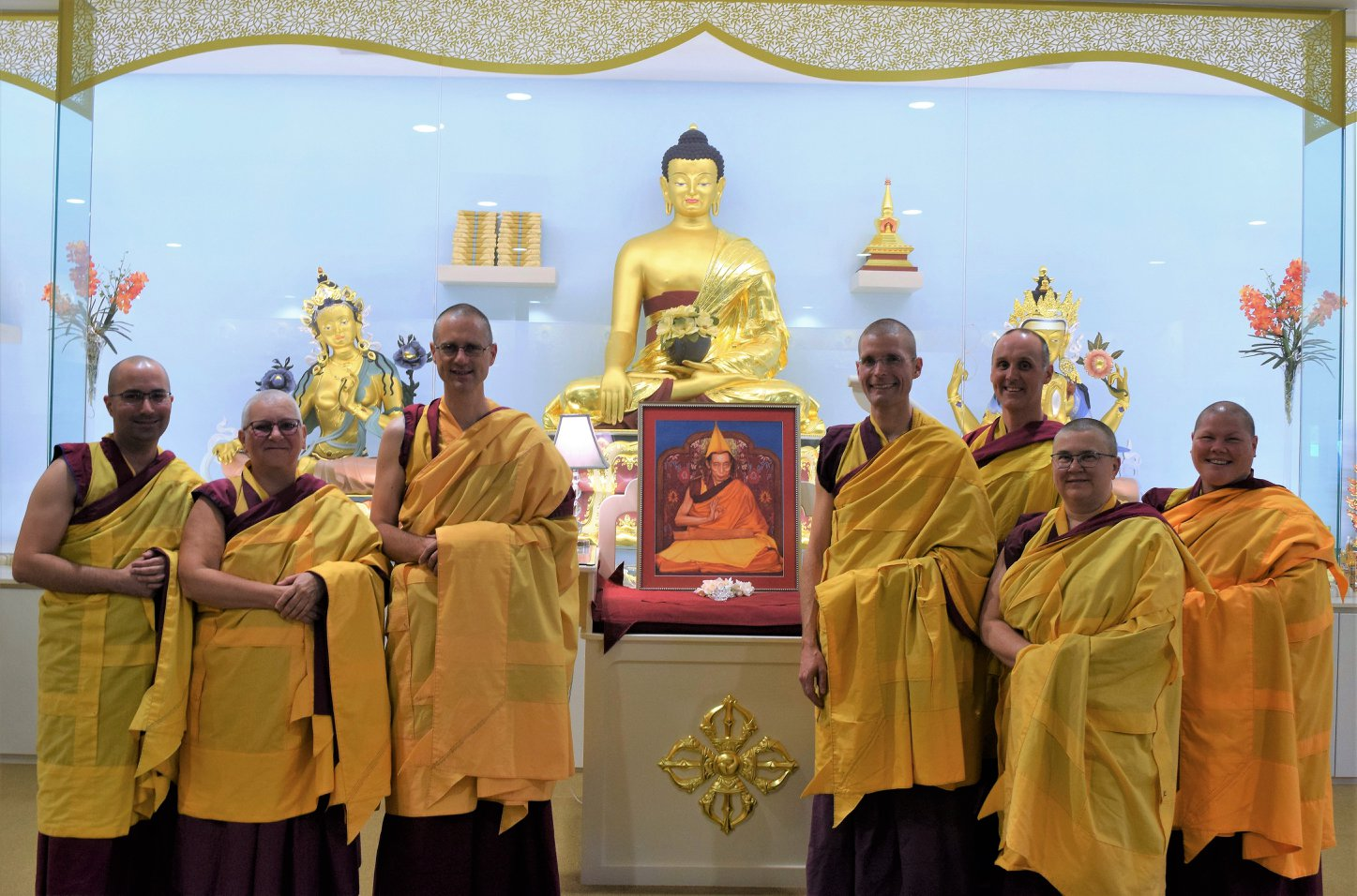 Buddhist Monks & Nuns at the World Peace Temple